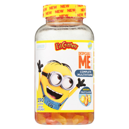 L'il Critters Despicable Me Complete Multivitamins Gummies Strawberry-Banana - 190.0 ea