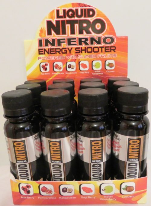 LnInfShot 3 oz Nitro Inferno Energy Shotter, Cinnamon Flavor - 12 Count