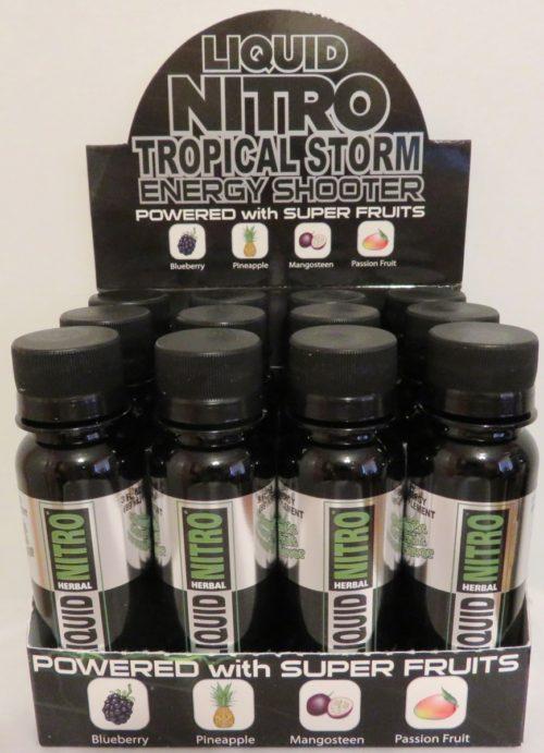 LnTropShot 3 oz Tropical Storm Energy Drink, Fruit Flavor - 12 Count
