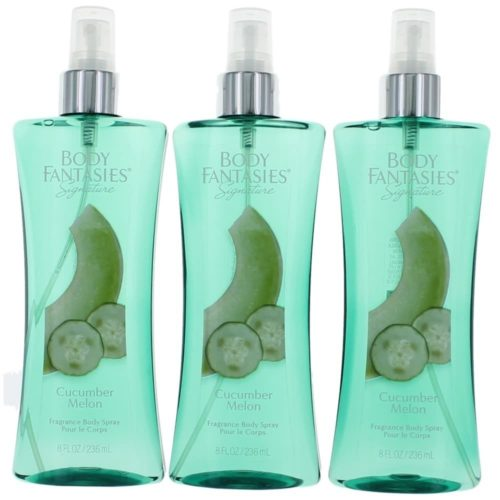 awbfcm8bs3p 8 oz Cucumber Melon Fantasy by Body Fantasies of Fragrance Body Spray for Women, Pack of 3