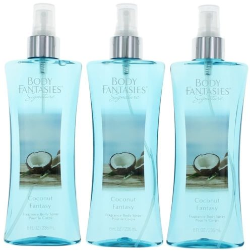 awbfco8bm3p 8 oz Coconut Fantasy by Fantasies Fragrance Body Spray for Women, Pack of 3