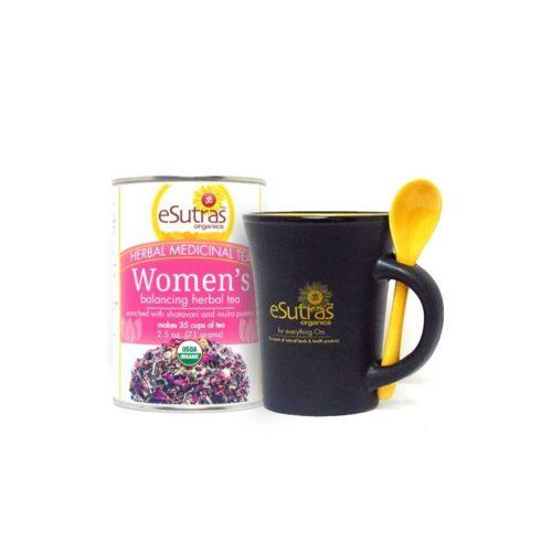 eSutras 23A7400 Womens Tea & Mug Combo Herbal Tea Kit