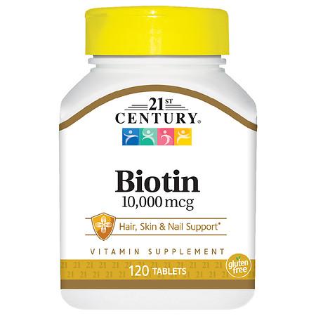 21st Century Biotin 10,000 mcg Tablets - 120.0 ea