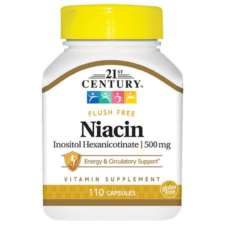 21st Century Flush Free Niacin 500mg - 110.0 ea