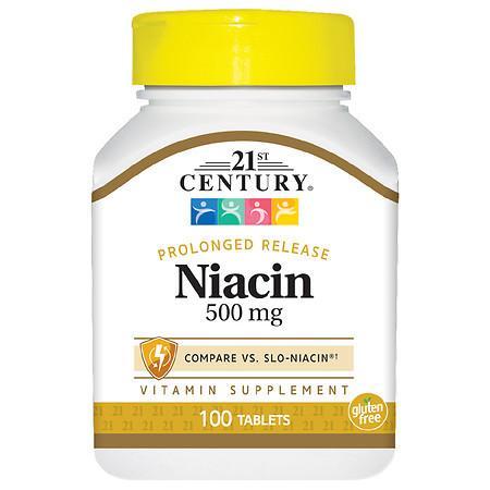 21st Century Niacin 500mg Prolonged Release Tablets - 100.0 ea