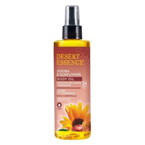 234432 8.28 fl oz Body Care Jojoba & Sunflower Body Oil After Shower Finishing Sprays