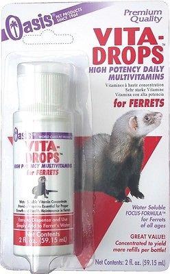 48054800597 2 oz Oasis Vita-Drops for Ferrets