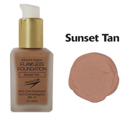 676896000723 Sunset Tan Flawless Foundation
