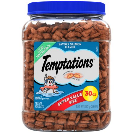 798661 30 oz Temptations Classic Treats for Cats Savory, Salmon Flavor