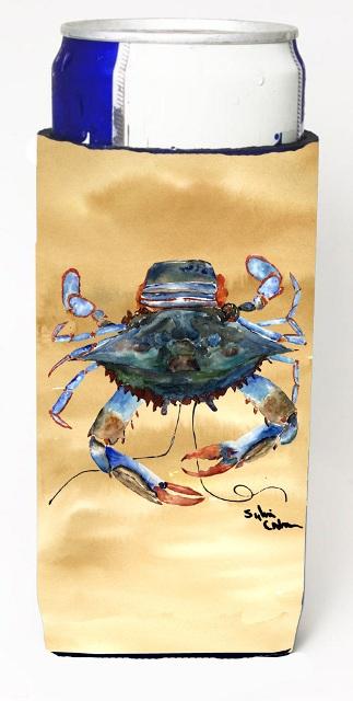 8156MUK Female Blue Crab Sandy Beach Michelob Ultra s For Slim Cans - 12 oz.