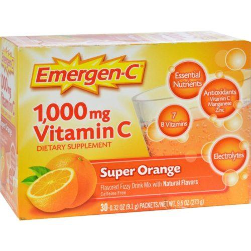 Alacer HG0350900 1000 mg Emergen-c Vitamin C - Super Orange, 30 Packet