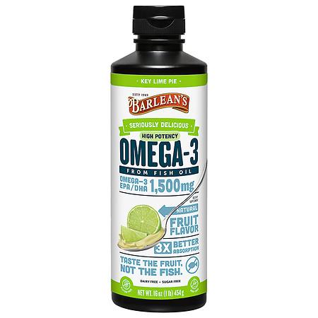 Barlean's Organic Oils Omega Swirl Fish Oil EPA/DHA 1,500mg Key Lime - 16.0 oz
