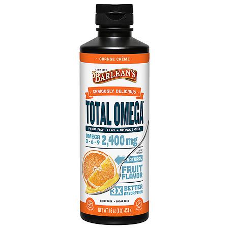 Barlean's Organic Oils Total Omega 3-6-9 Swirl Orange Cream - 16.0 fl oz
