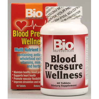 Bio Nutrition Blood Pressure Wellness - 60 Tablets