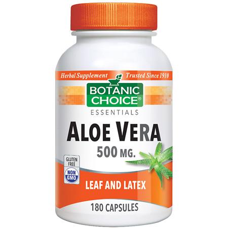 Botanic Choice Aloe Vera 500 mg Herbal Supplement Capsules - 180.0 Each