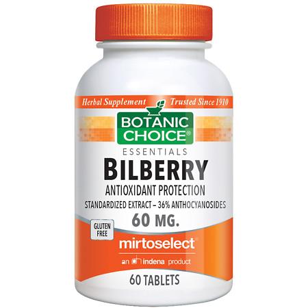 Botanic Choice Bilberry 60 mg Dietary Supplement Tablets - 60.0 Each