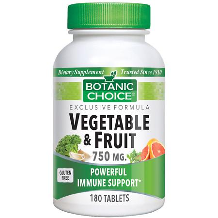 Botanic Choice Vegetable & Fruit 750 mg Dietary Supplement Tablets - 180.0 Each