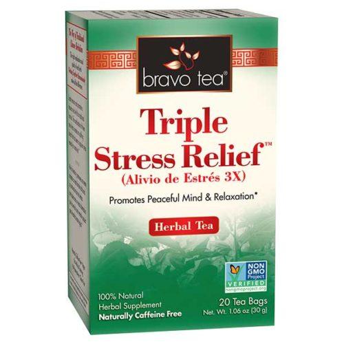 Bravo Tea 689051 Triple Stress Relief Tea - 20 Bag, 6 Per Case