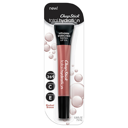 ChapStick Total Hydration Vitamin Enriched Tinted Lip Oil - 0.24 fl oz