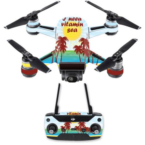 DJSPCMB-Vitamin Sea Skin Decal for DJI Spark Mini Drone Combo Sticker - Vitamin Sea
