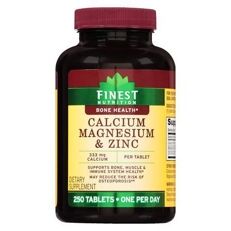 Finest Nutrition Calcium Magnesium Zinc Tablets - 250.0 ea