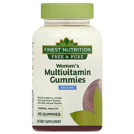 Finest Nutrition Free & Pure Women's Multi Gummy Raspberry, Strawberry and Cherry - 90.0 ea