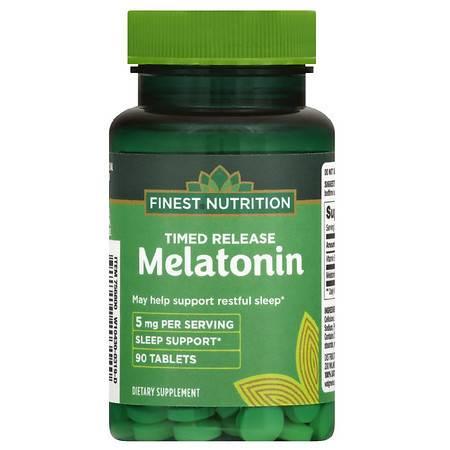 Finest Nutrition Melatonin 5mg Timed Released - 90.0 ea