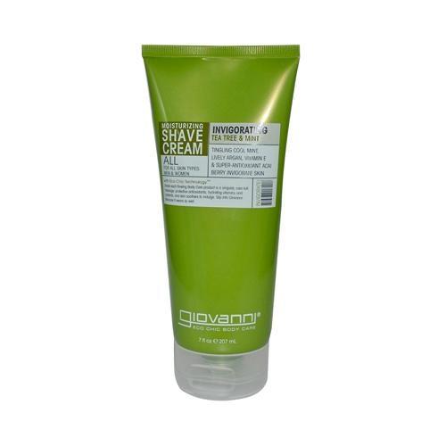 HG0917401 7 fl oz Moisturizing Shave Cream All Skin Types Men & Women Refreshing Invigorating Tea Tree & Mint