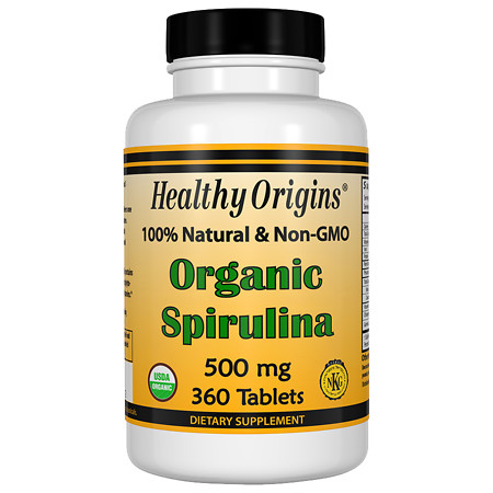 Healthy Origins Organic Spirulina 500mg, Tablets - 360.0 ea