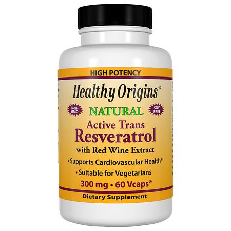 Healthy Origins Resveratrol 300mg, Vegetable Capsules - 60.0 ea