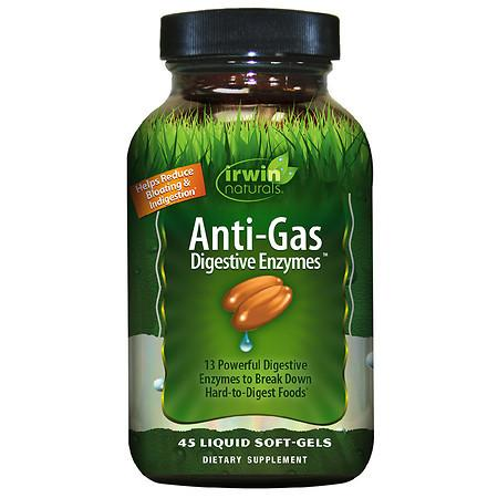 Irwin Naturals Anti-Gas Digestive Enzymes Soft-Gels - 45.0 ea