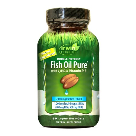 Irwin Naturals Double-Potency Fish Oil with Vitamin D3, Softgels - 60.0 ea