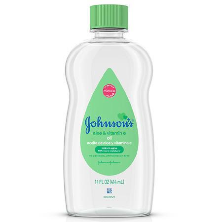 Johnson's Baby Oil With Aloe Vera & Vitamin E Aloe & Vitamin E - 14.0 fl oz