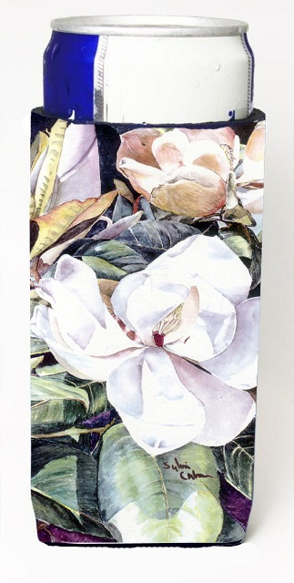 8002MUK Flower - Magnolia Michelob Ultra bottle sleeves For Slim Cans - 12 oz.