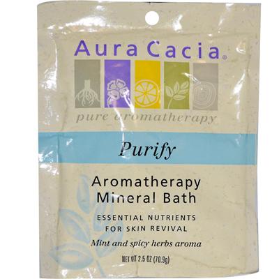 AURA(tm) Cacia Aromatherapy Mineral Bath Balancing Sage - 2.5 Oz