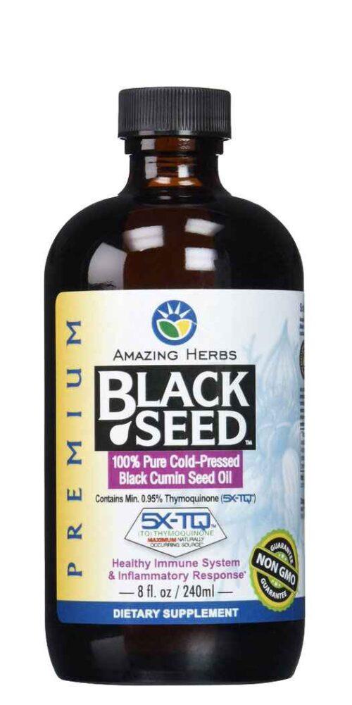 Amazing Herbs Premium Black Seed Oil - 8 Oz