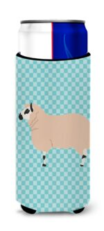 BB8153MUK Kerry Hill Sheep Blue Check Michelob Ultra Hugger for Slim Cans