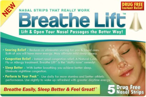 BRLFT-006-01 Nasal Strips Breathe Lift - New Nose Strips Product, White - Pack of 5