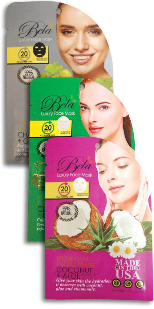Bela Luxury Face Mask Sheet Kit - 1 Kit