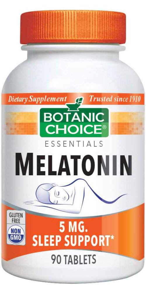 Botanic Choice Melatonin 5 mg - Nighttime Support Supplement - 90 Tablets