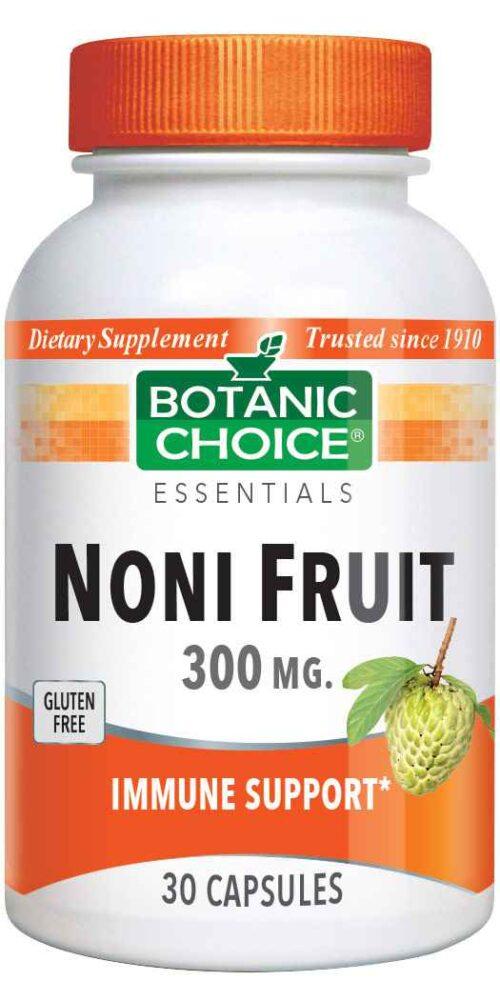 Botanic Choice Noni Fruit 300 mg - Immune Support Supplement - 30 Capsules