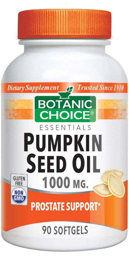 Botanic Choice Pumpkin Seed Oil 1000 mg - Prostate Support Supplement - 90 Softgels