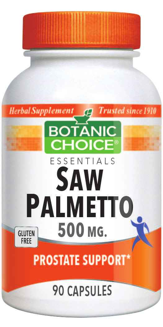Botanic Choice Saw Palmetto 500 mg - Prostate Support Supplement - 90 Capsules