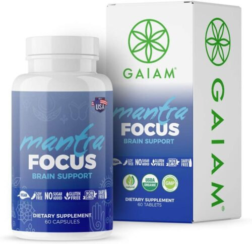 Gaiam 227642 Organic Mantra Focus Brain Support Dietary Supplements
