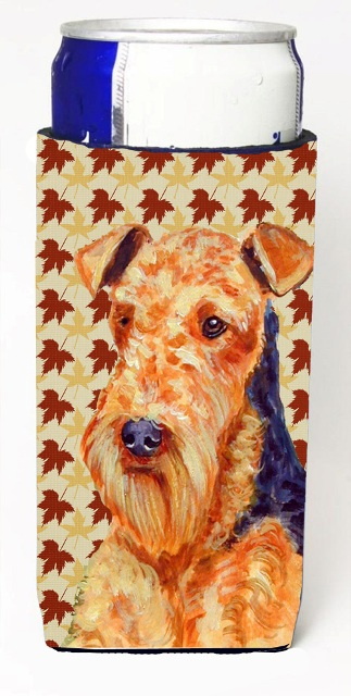 LH9111MUK Airedale Fall Leaves Portrait Michelob Ultra s For Slim Cans - 12 oz.