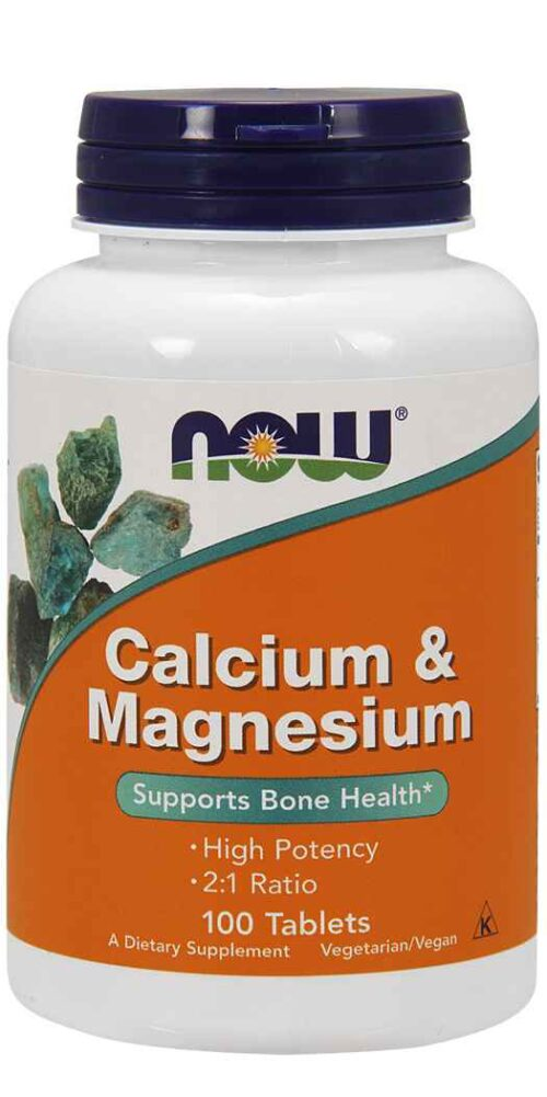 Now Foods Calcium & Magnesium - Total Health Support Supplement - 100 Tablets