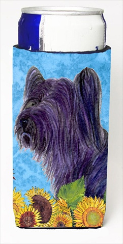 Skye Terrier In Summer Flowers Michelob Ultra bottle sleeves For Slim Cans - 12 Oz.
