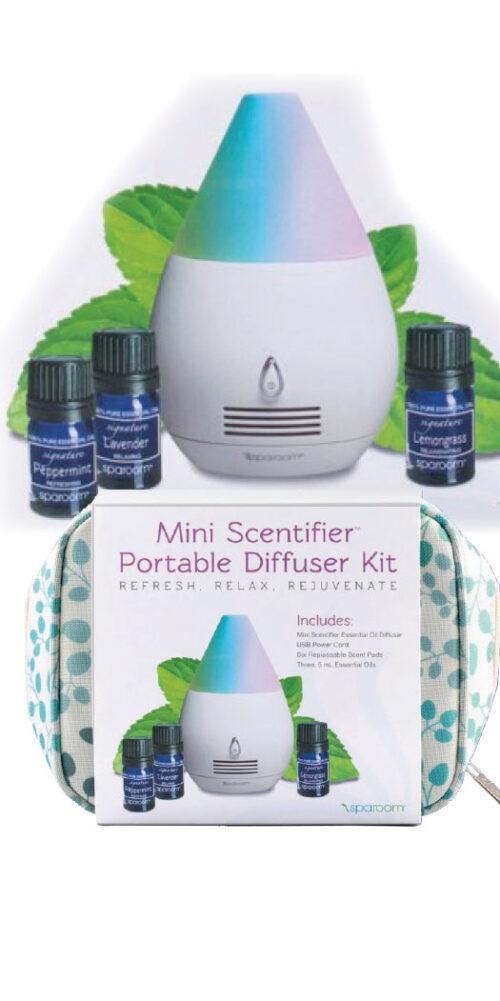 Spa Room Mini Scentifier Portable Diffuser Kit - 1 Set