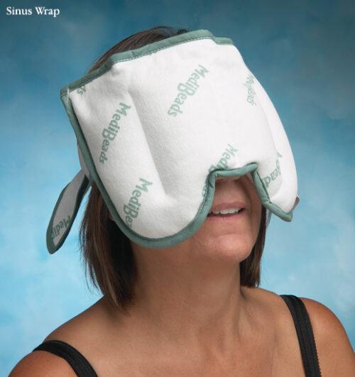Stander NC81040-08 Medibeads Microwave Moist Heat Pack Sinus Wrap, 7 in. x 11 in.