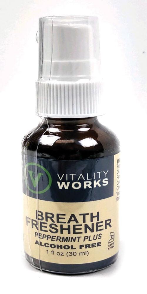 Vitality Works Breath Freshener Peppermint Plus Spray - Fl Oz